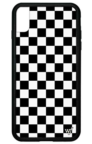 Wildflower Limited Edition Cases for iPhone Xs Max (Black Checkers)