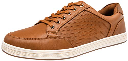 VOSTEY Men's Fashion Sneakers Casual Shoes Classic Breathable lace up Shoes Men (8,Breathable fashion858-Brown)