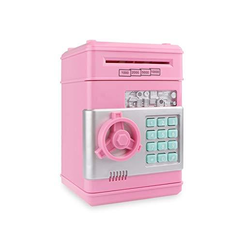 Changskj Hucha Electrónica Piggy Bank ATM contraseña Dinero en Efectivo Monedas Caja Caja de Ahorro de cajeros automáticos del Banco de Billetes Fuerte Caja Fuerte con Capacidad automática