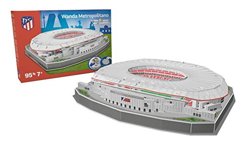 Kick Off- 34007 - Puzzle Stade Wanda Metropolitan 2019, Multicolore - version espagnole