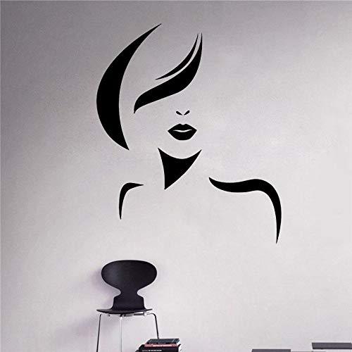 JUDING Salon de beauté Femme Spa Cheveux styliste Autocollant Fille Salon de Coiffure Sticker Mural Coiffure Amovible Femme Interne Affiche DIY42x50 cm