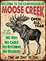 簡素な雑貨屋 Moose Creek Campground アメリカン 雑貨 ヴィンテージ風 メタルプレート ブリキ 看板 アンティーク レトロ
