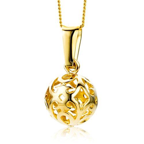 Miore Kette - Halskette Damen Gelbgold 9 Karat / 375 Gold Kette 45 cm