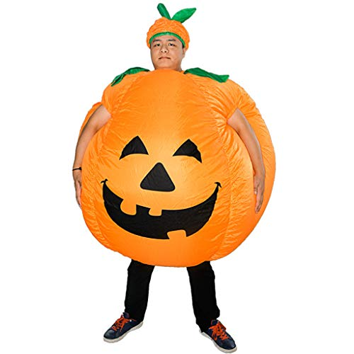 Aufblasbares Kostüm Halloween Kürbiskostüm Bühne Performance Kürbis Karikatur Marionette Lustig Aufblasen Anzug