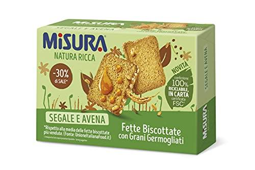 Misura Fette Biscottate Natura Ricca  con Grani Germogliati   Confezione da 320 grammi
