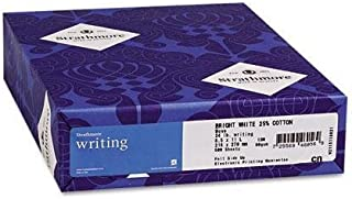 Strathmore Writing Natural Paper - 8 1/2 x 11 in 24 lb Writing Wove 25% Cotton Watermarked 500 per Ream