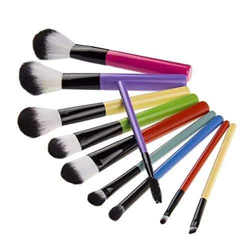 10 Stks Gekleurde Houten Handvat Borstels Zwart En Wit Zebra Emmer Schoonheid Gereedschap Make-up Borstel Pincel de maquillaje