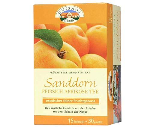 avita Sanddorn Pfirsich Aprikosen Tee (15 Teebeutel) Früchtetee   Aufgussbeutel