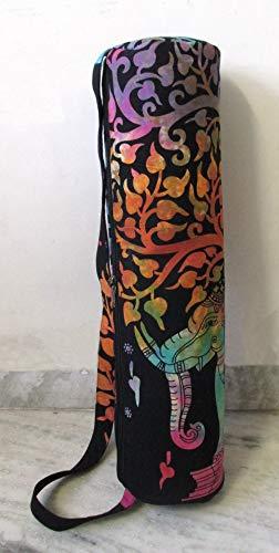 Sac de transport avec bandoulière pour tapis de yoga et de yoga, Arbre éléphant., FULL