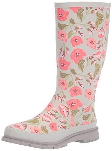 Western Chief Waterproof Printed Wide Calf Rain Boot Rose Garden 7 M