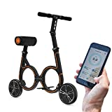 Smacircle E-Mobility, Folding Electric Mobility with Lightweight Carbon Fiber Frame, 36V Lithium-ion Battery, 12 Mile Range, USB Charger, App Control, Ideal for Urban Riding and Commuting (Orange)