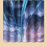 BENBEN Cortina de ducha de estilo nórdico, cortina de ducha impermeable para hotel, cortina de ducha de 180 x 180 cm