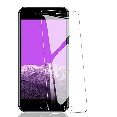 RIIMUHIR-3 Pack Vetro temperato per iPhone 8/7 Plus, Protezione dello Schermo 9H Durezza, Senza Bolle, Anti-Olio, Facile Installazione, Anti-graffio
