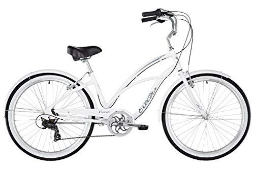 ELECTRA Damen Fahrrad Cruiser Lux 7D Beachcruiser, Weiß, 7 Gang, 26
