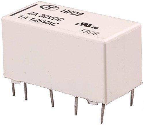 HF Signalrelais bistabil 5V DC 2x UM (2x Wechselkontakt) HFD2-L