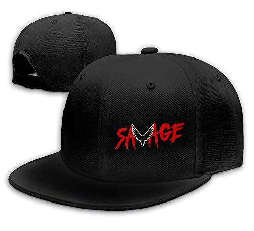 LiwnzhenSH Cotton Savage Parrot Logo Logan Paul Unisex Flat Brim Baseball Hat Black
