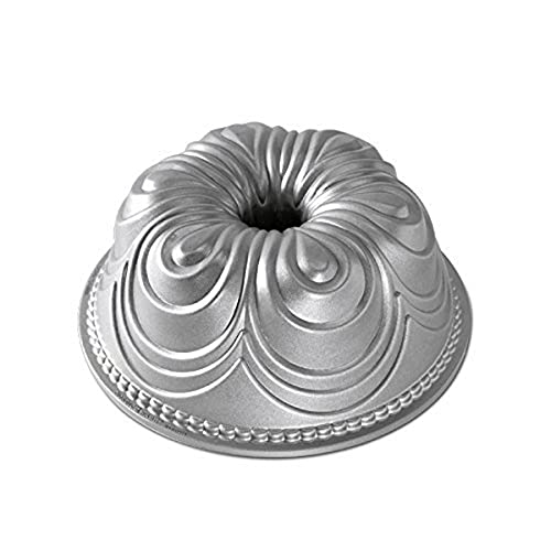 NordicWare Diseño Molde Gasa Bundt, Aluminio, Plata, 24,8x 24,8x 9,5cm, 1Unidades