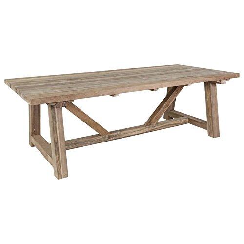 OUTLIV. Gartentisch Holz Marbella Gartentisch 240x110 cm Teak Recycled Massviholz-Tisch Holztisch Garten Terrassentisch Balkontisch Outdoor Tisch