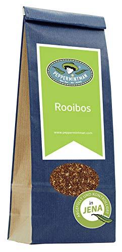 PEPPERMINTMAN Rooibos Tee lose Blätter – Premium Rooibostee mit natürlicher Süße und vielen Mineralstoffen – Beliebt als Kindertee, weil er kein Tein enthält – 60g Papiertüte