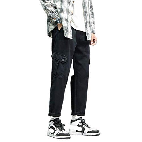 Pantalones de Hombre Ropa de Trabajo Resistente Constructores de Combate Almacén Ropa de Trabajo Pantalón Recto Color sólido Pantalones Multibolsillos