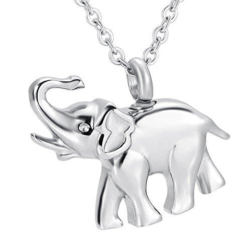 SUSHANCANGLONG Collar de urna en forma de elefante para cenizas cremación recuerdo joyería regalo