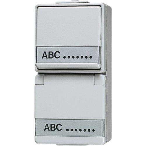 Jung 676NAW Schuko-stopcontact met schakelaar