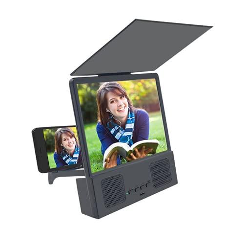 Pantalla del teléfono lupa 3D pantalla del teléfono Amplificador de la pantalla de vídeo de la película con altavoz Bluetooth bajo subwoofer para teléfonos móviles