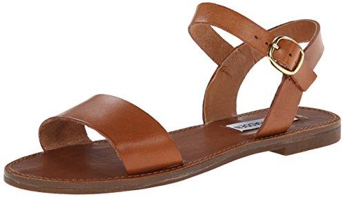 Steve Madden Women's Donddi Dress Sandal, Tan Leather, 9 M US