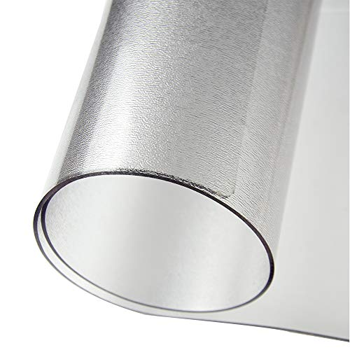 Frosted Clear Desk Pad, 1.5mm Thick Desk Mat Protector, Writing Mat 23.62 47.24 Inch Non-Slip Easy Clean for Home School and Office (Frosted, 23.62 47.24 Inch)