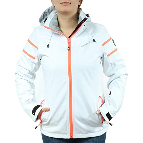 Icepeak dames winter ski jas softshell Nelly 980 wit/oranje 254820542I