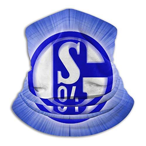 Custommade Fc Schalke 04 Logo Unisex Halstuch Schlauchschal,Staubschutz Gesichtsmaske Outdoor Halswärmer Skimaske Atmungsaktiv Mund-Tuch Sport Motorrad Fahrrad Joggen Face Shield UV-Schutz