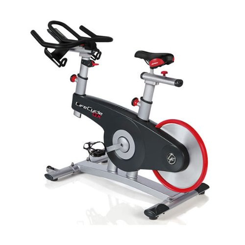 Life Fitness Lifecycle GX - Bicicletas estáticas y de Spinning para Fitness, Color Gris/Negro