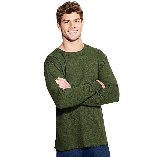 Champion Duofold Originals Wool-Blend Men's Thermal Shirt, Olive Heather, XL