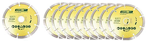 Toolzy 100032B20 - Disco de corte de diamante (20 unidades, 125 mm, EN13236)