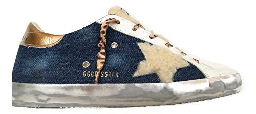Golden Goose Scarpe Donna Sneaker Hi Star Vintage GWF00101.F000208.80232 Blu (38)