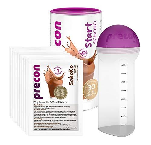 Precon BCM Diät Probierwoche – Start Schoko – 20 Shake Portionen – 1 Shaker – 1 Precon Handbuch – Mahlzeitenersatz für eine gewichtskontrollierende Ernährung