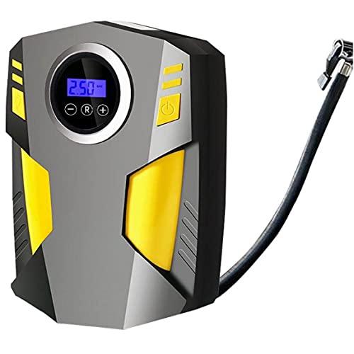 Jorzer Compresor Automático Compresor De Aire Multifuntal 12v Cucho Inflador Con Pantalla Digital De Luz Led, Mantenimiento De Llade
