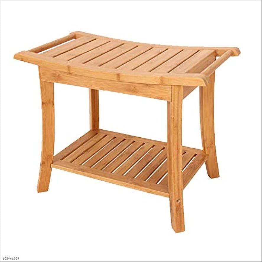 浴室スツールシャワースツール木製ベンチ家の高齢者の妊娠中の女性の風呂の椅子の変更の靴のベンチ収納スツール (Color : BROWN, Size : 33CM*60CM*46CM)