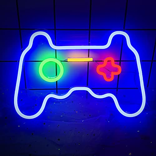 Game Neon Sign (16 x 11inch), Acrylic Board Led Neon Light Gamepad Controller Neon Signs Gaming...