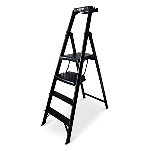 Klappleiter Innenleiter, Multifunktionsleiter im Freien bewegliche Leiter-Metallleiter-Küchenleiter-Balkon-Leiter 55 * 9 * 162CM Multifunktion (größe : 55 * 9 * 162CM)