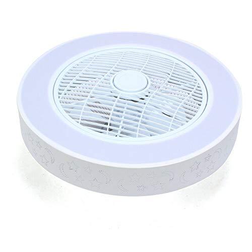 Ventilador de techo de 22 pulgadas, con iluminación y mando a distancia, silencioso, regulable, temporizador, lámpara de techo lámpara de araña para habitación de los niños, 40 W