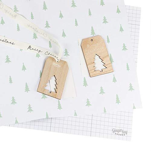Geschenkpapier - Verpackungsset Weihnachten Tannenbaum I Geschenke verpacken Weihnachts-Geschenkpapier