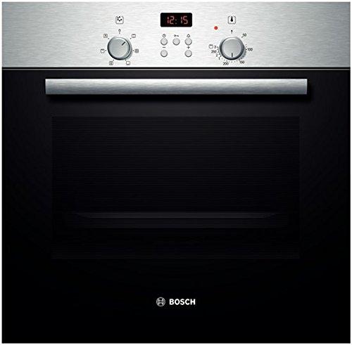 Bosch HBN532E0F four encastrable (Intégré, Electrique, Acier inoxydable, boutons, Rotatif, Devant), Noir [Classe énergétique A]