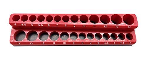 Industro 110 Magnetische Ablage für Steckschlüsseleinsätze, P.P/Ferrogum, rot
