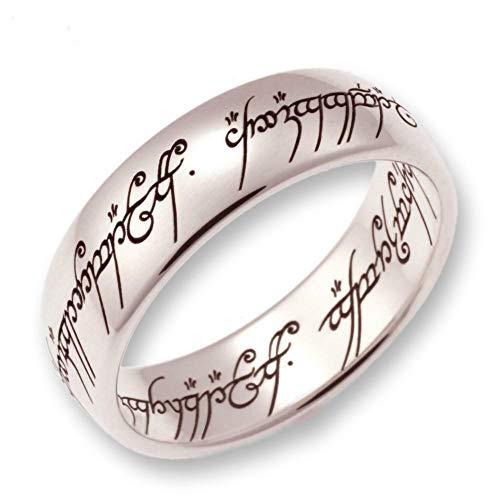 Herr der Ringe/Hobbit Schmuck by Schumann Design der EINE Ring aus massivem 750 Weissgold ORIGINAL