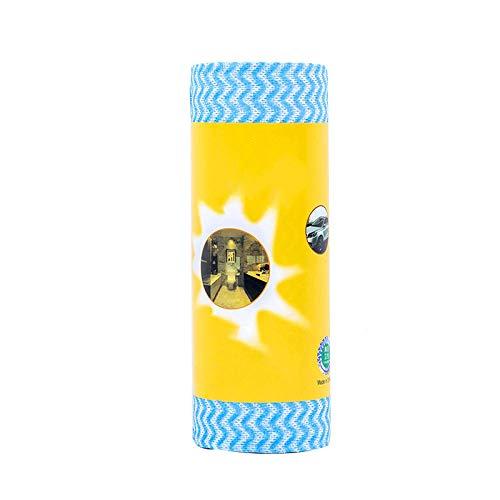 blessvt Toallitas desechables lavables para cocina, hogar, sin pelusas, no tejidas, no se manchan fácilmente, color azul