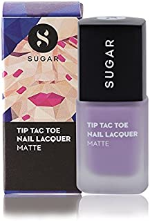 SUGAR Cosmetics Tip Tac Toe Nail Lacquer 030 Passion with Matte Pastel Lavender (10ml, Purple)