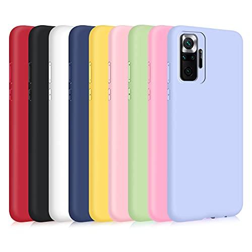 9X Cover per Xiaomi Redmi Note 10 PRO Note 10 PRO Max, Custodia Morbido Silicone Ultra-Sottile TPU Tinta Unita Anti-Graffio Paraurti Protettiva Flessibile Gomma Case - 9 Colori