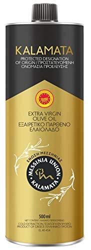 Extra natives Olivenöl aus Griechenland - PDO Kalamata von Olymp - Höchste Qualität kaltextrahierter Koroneiki-Vielfalt - Zinn 500ml