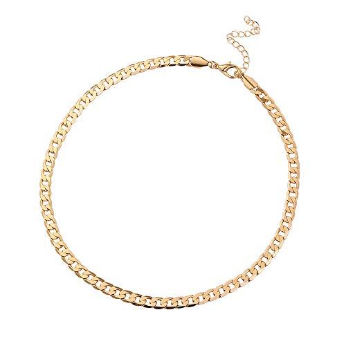 Cadena Chapa de Oro 18k para Mujer Regalo Pareja